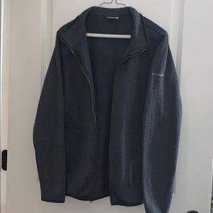 Grey heather patterned Columbia fleece jacket (L)